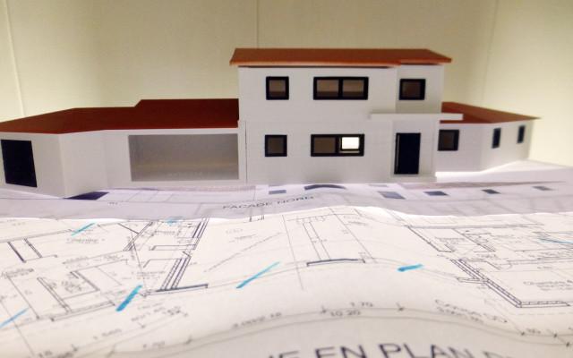 Maquette 3D d'une construction de maison