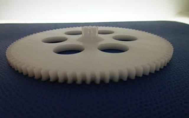 Impression en 3D d'un prototype d'engrenage