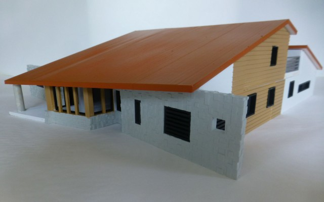 Impression 3D d'une maquette de maison