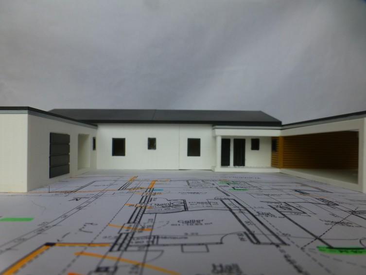 Maquette 3d habitat contemporain objet maker for Habitat contemporain